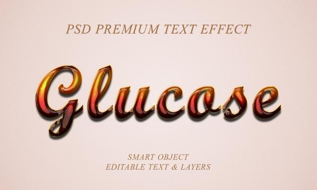 Projekt efektu tekstu glukozy