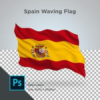 Projekt fali flagi hiszpanii przezroczysty