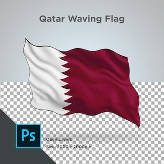 Projekt fali flagi kataru przezroczysty