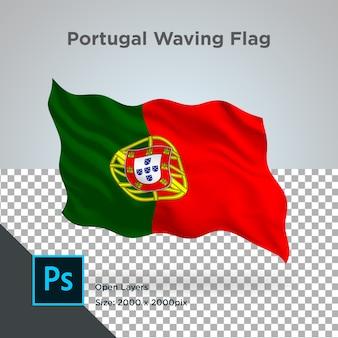 Projekt fali flagi portugalii przezroczysty