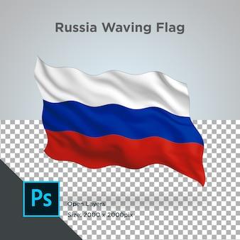 Projekt fali flagi rosji przezroczysty