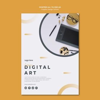 Projekt graficzny szablonu plakatu