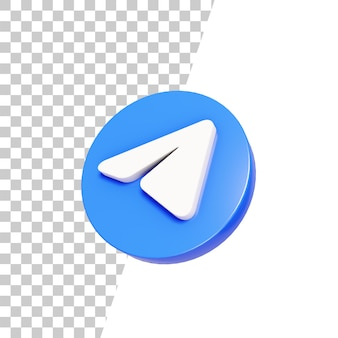 Projekt ikony 3d błyszczący telegram