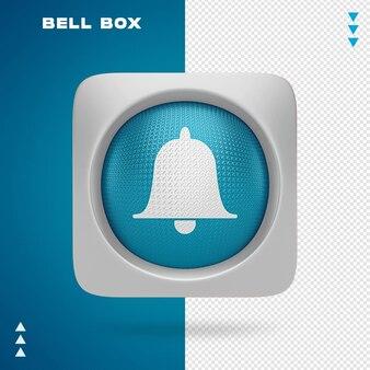 Projekt ikony dzwonka w renderowaniu 3d