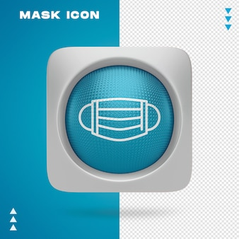 Projekt ikony maski w renderowaniu 3d