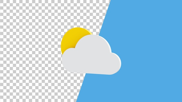 Projekt ikony pogody 3d