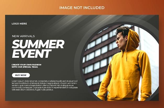 Projekt imprezy dynamicznej banner letni psd