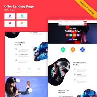 Projekt interfejsu użytkownika strony oferty