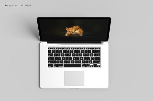Projekt laptopa makieta renderowania na białym tle