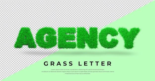 Projekt listu trawy 3d agencji