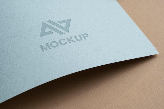 Projekt logo makiety na akcesoriach papierniczych