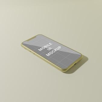 Projekt makieta ekranu interfejsu użytkownika telefonu komórkowego na białym tle