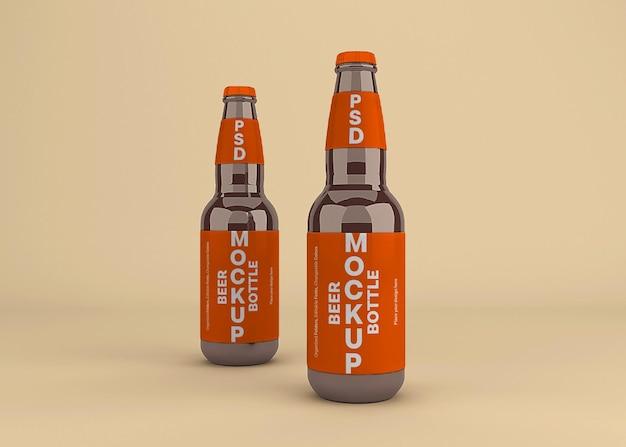 Projekt makieta etykiety piwa na białym tle