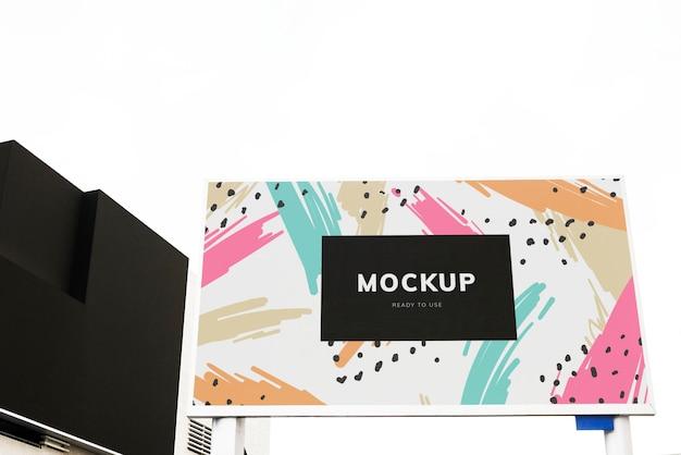 Projekt makieta kolorowy billboard