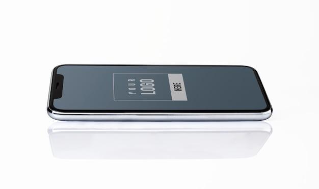 Projekt makieta na pełnym ekranie smartphone