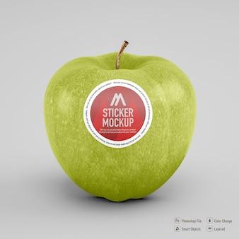Projekt Makieta Naklejki Apple Na Białym Tle Premium Psd