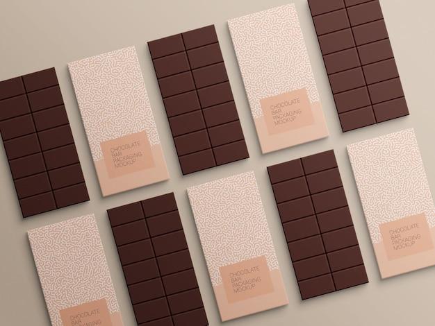 Projekt makieta opakowania papierowego opakowania czekolady