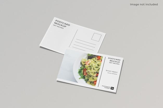 Projekt makieta pocztówki ulotki na białym tle