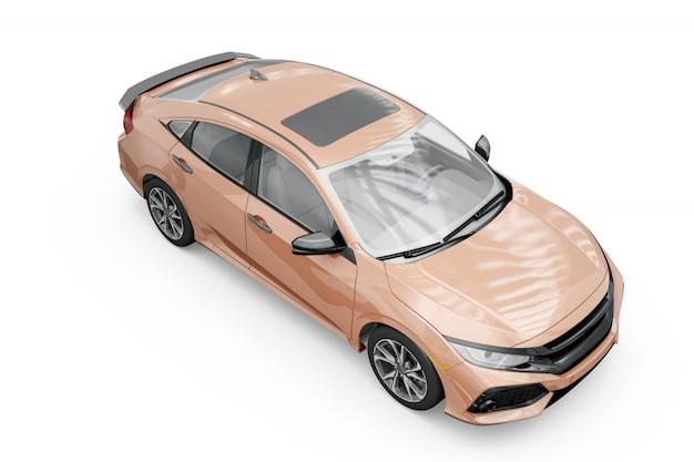 Projekt makieta samochodu na białym tle