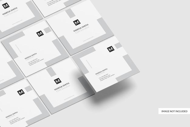 Projekt makieta wizytówki kwadratowej