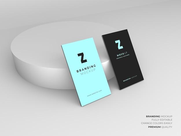 Projekt makieta wizytówki na białym tle
