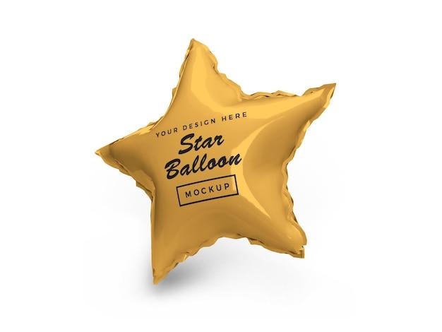 Projekt makiety 3d balon foliowy z gwiazdą