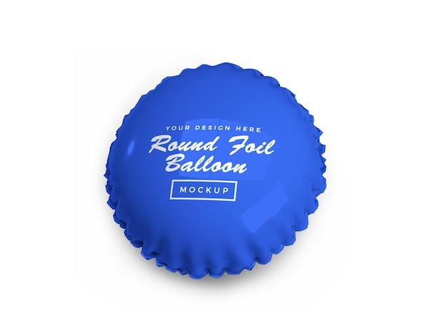 Projekt makiety 3d z zaokrąglonym balonem foliowym