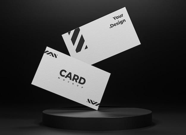 Projekt makiety białej wizytówki na białym tle
