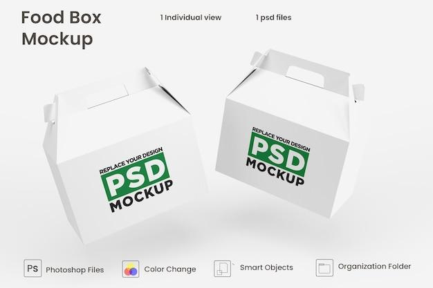 Projekt makiety brązowego pudełka dostawy żywności