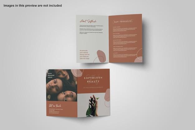 Projekt makiety broszury bifold w formacie a4