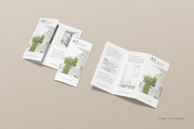 Projekt makiety broszury trifold