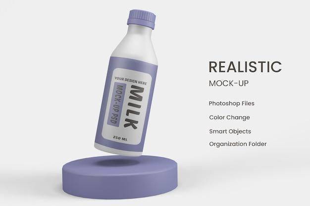 Projekt makiety butelki mleka
