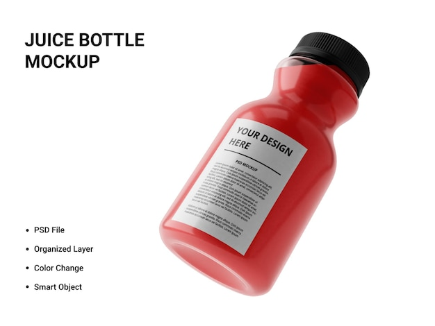 Projekt makiety butelki soku