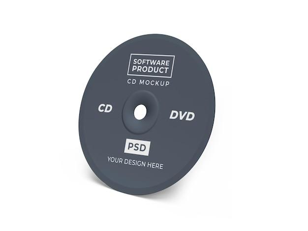 Projekt Makiety Compact Disc Cd 3d Premium Psd