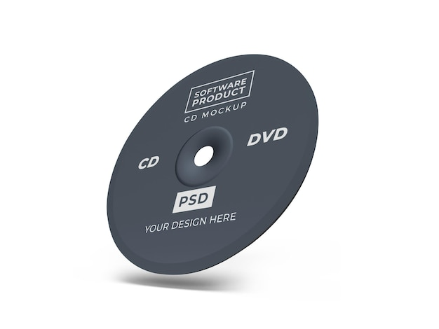 Projekt makiety compact disc cd 3d