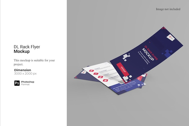 Projekt makiety dl rack flyer