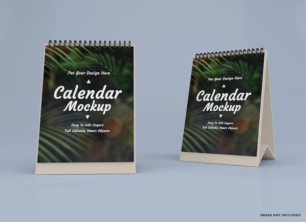 Projekt makiety kalendarza na białym tle projekt na białym tle