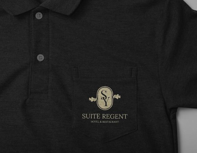 Projekt makiety koszulki polo z kieszenią