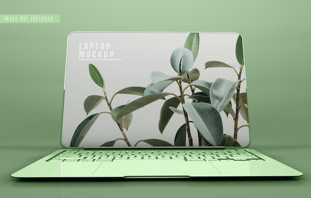 Projekt makiety laptopa na pełnym ekranie
