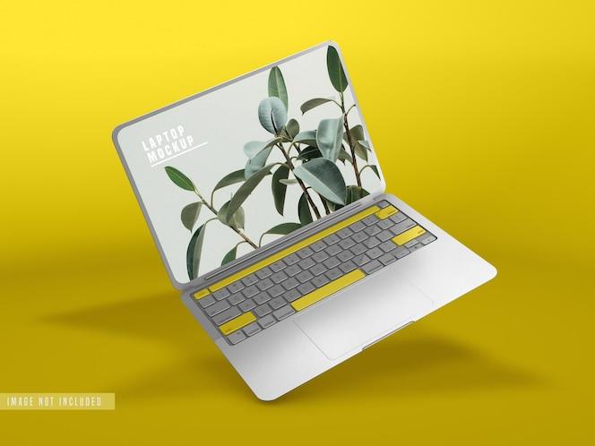 Projekt makiety laptopa psd