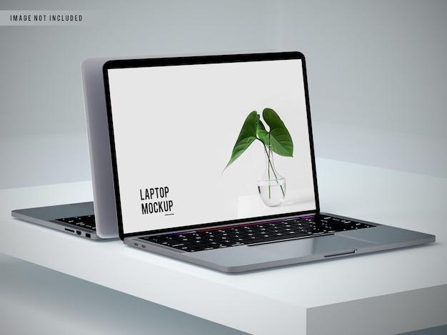 Projekt makiety laptopa z pełnym ekranem