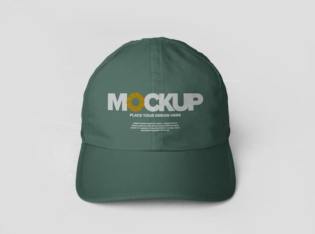 Projekt makiety logo czapki sportowej na białym tle