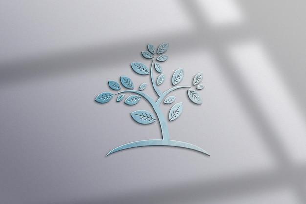 Projekt makiety logo w ścianie