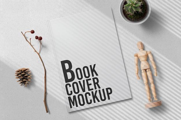 Projekt makiety okładki książki na białym tle