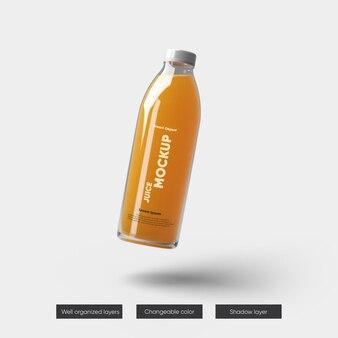 Projekt makiety opakowania butelek soku