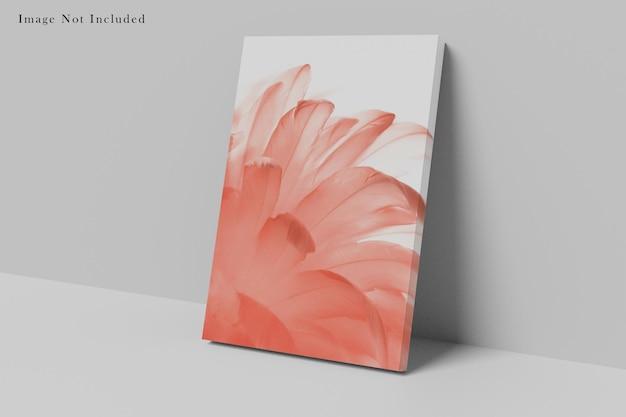 Projekt makiety papierowej torby na białym tle