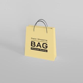 Projekt makiety papierowej torby na zakupy premium psd