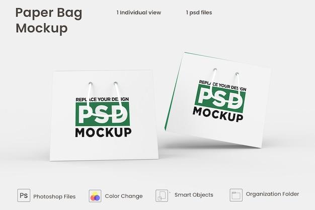 Projekt makiety papierowej torby na zakupy psd