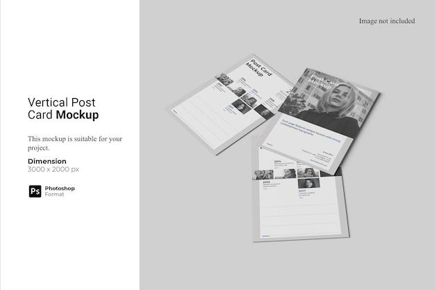 Projekt makiety pionowej karty pocztowej