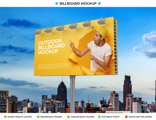Projekt makiety plakatu na zewnątrz billboardu